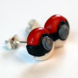 Pokemon Ohrringe aus FIMO