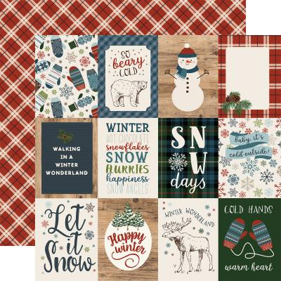 Carta Bella Let It Snow Designpapier - 3 x 4 Journaling Cards