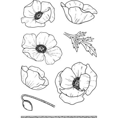 Jane's Doodles Clear Stamps - Poppy