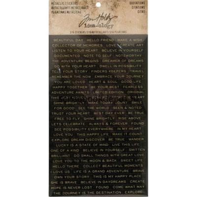 Idea-ology Tim Holtz - Metallic Stickers Quotations