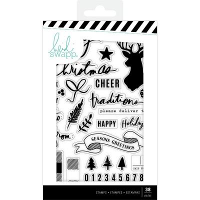Heidi Swapp Winter Wonderland Clear Stamps - Words & Icons