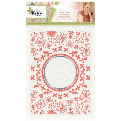 Crafter's Companion Sew Retro Embossingfolder - Floral Frame