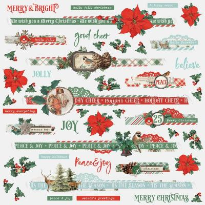 Simple Stories Cardstock Stickers - Country Christmas