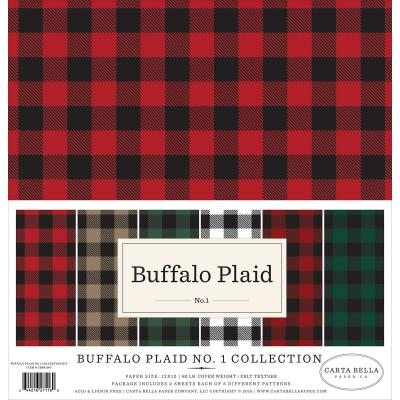 Carta Bella Designpapier - Buffalo Plaid No. 1