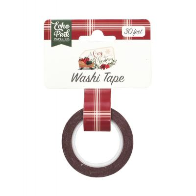 Echo Park A Cozy Christmas Washi Tape - Holiday Plaid