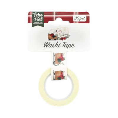 Echo Park A Cozy Christmas Washi Tape - Sleigh & Presents