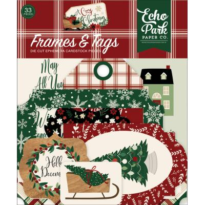Echo Park A Cozy Christmas Die Cuts - Frames & Tags