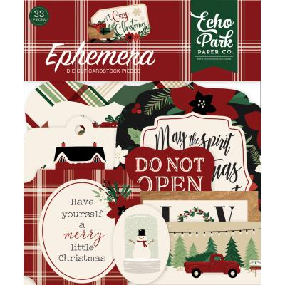 Echo Park A Cozy Christmas Die Cuts - Ephemera