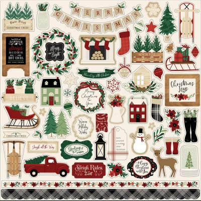 Echo Park A Cozy Christmas Stickerbogen - Element Sticker