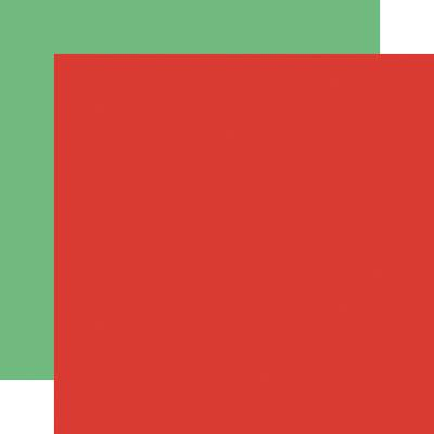 Carta Bella Merry Christmas Cardstock - Red Light Green