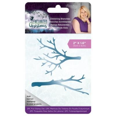 Crafter's Companion Enchanted Christmas Hotfoil Stamps - Glistening Branches