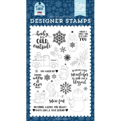 Echo Park My Favorite Winter Clear Stamps - You Warm My Heart