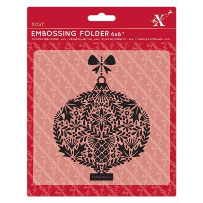 Xcut Embossingfolder - Foliage Bauble