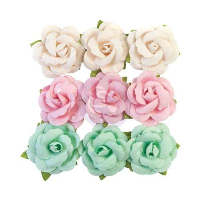Prima Marketing Dulce Mulberry Paper Flowers Embellishments - Fluffy Candy