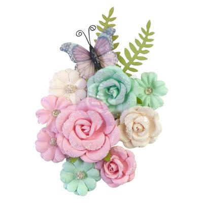 Prima Marketing Dulce Mulberry Paper Flowers Embellishments - Sweet Confections