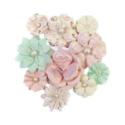 Prima Marketing Dulce Mulberry Paper Flowers Embellishments - Cupcakes
