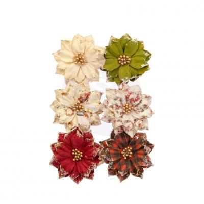 Prima Marketing Christmas In The Country Flowers Embellishments - Warm Mittens
