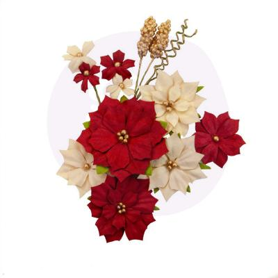 Prima Marketing Christmas In The Country Flowers Embellishments - Joyful
