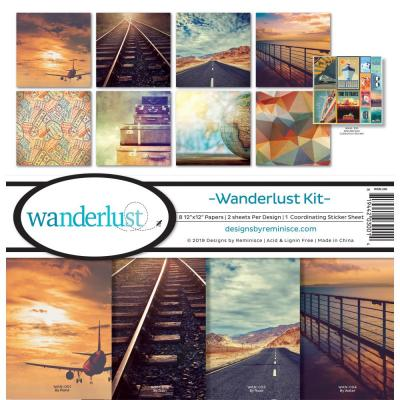 Reminisce Designpapier Collection Kit - Wanderlust