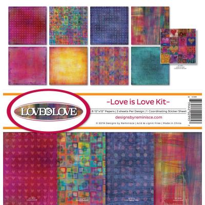 Reminisce Designpapier - Love Is Love