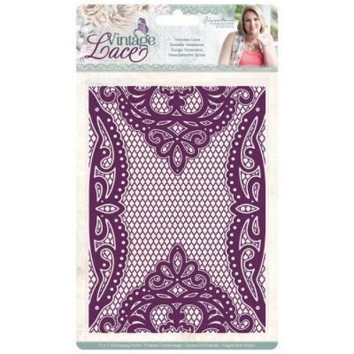 Crafter's Companion Sara Signature Vintage Lace Embossing Folder - Venetian Lace
