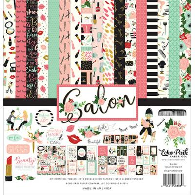 Echo Park Salon Desingpapier - Collection Kit