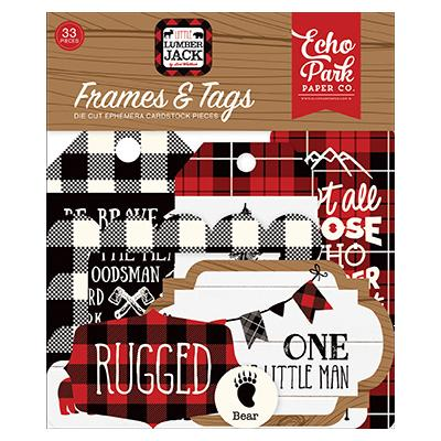 Echo Park Little Lumberjack Die Cuts - Frames & Tags