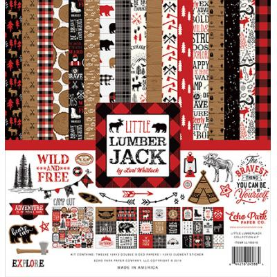 Echo Park Little Lumberjack Designpapier - Collection Kit