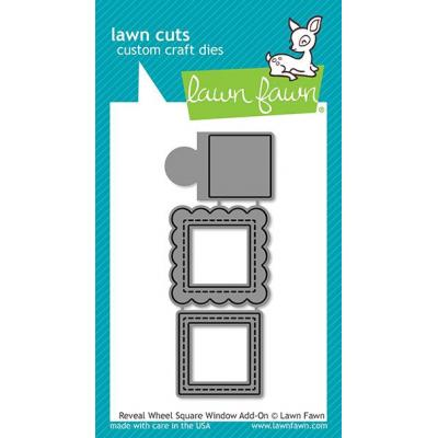Lawn Fawn Lawn Cuts - Reveal Wheel Square Window Add-On