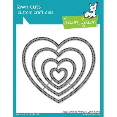 Lawn Fawn Lawn Cuts - Just Stitching Hearts