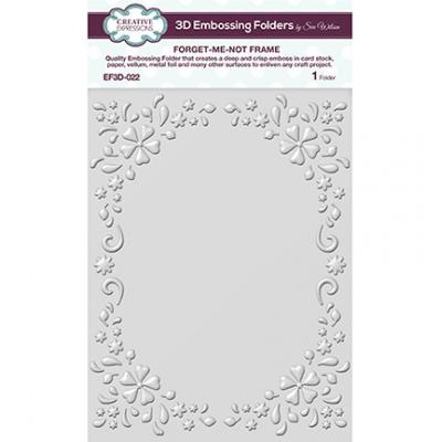 Creative Expressions 3D Embossing Folders - Forget-me-not Frame