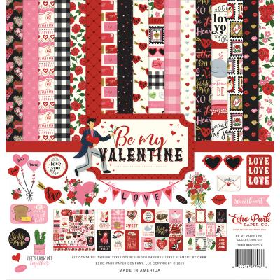 Echo Park Be My Valentine Designpapier - Collection Kit