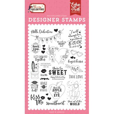 Echo Park Be My Valentine Clear Stamps - Hello Valentine