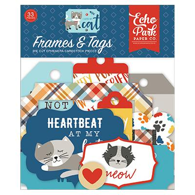 Echo Park I Love My Cat Die Cuts - Frames & Tags