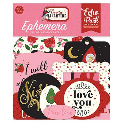 Echo Park Be My Valentine Die Cuts - Ephemera