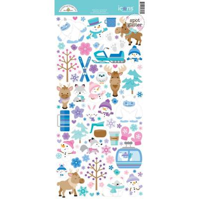 Doodlebug Winter Wonderland Sticker - Icons Stickers