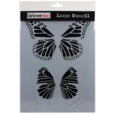 Darkroom Door Stencil - Butterflies