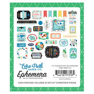 Echo Park It's Your Birthday Boy Die Cuts - Ephemera