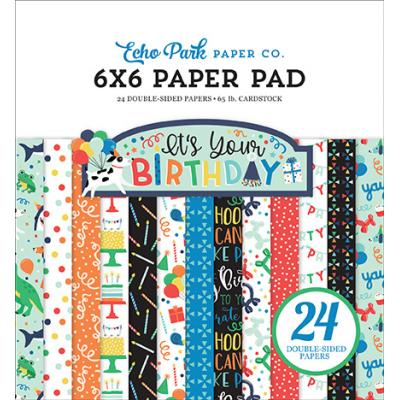 Echo Park It's Your Birthday Boy Designpapier - Paper Pad