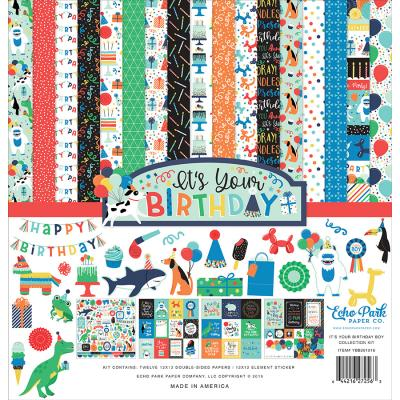 Echo Park It's Your Birthday Boy Designpapier - Collection Kit