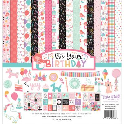 Echo Park It's Your Birthday Girl Designpapier - Collection Kit