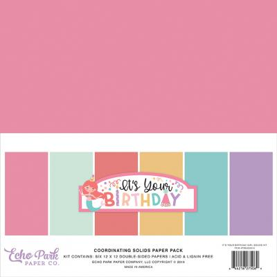 Echo Park It's Your Birthday Girl - Solids Kit