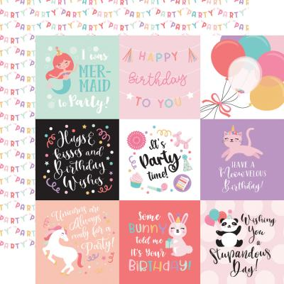 Echo Park It's Your Birthday Girl Designpapier - Journaling Cards