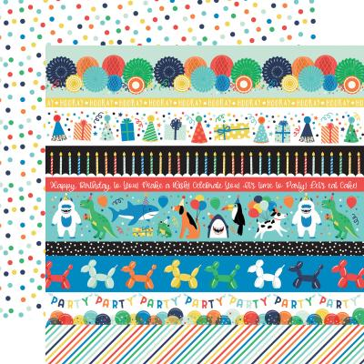 Echo Park It's Your Birthday Boy Designpapier - Border Strips