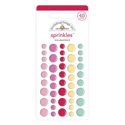 Doodlebug Love Notes Sprinkles Embellishments - Love Assortment