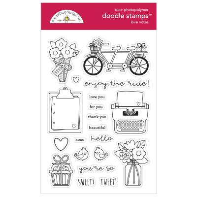 Doodlebug Love Notes Clear Stamps - Love Notes