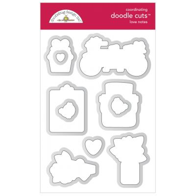 Doodlebug Love Notes Doodle Cuts - Love Notes