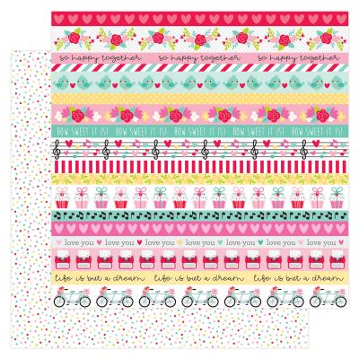 Doodlebug Love Notes Designpapier - Sweet Sprinkles
