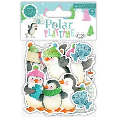 Craft Consortium Polar Playtime Die Cuts - Wood Shapes