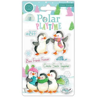 Craft Consortium Polar Playtime Clear Stamps - Playtime BFF